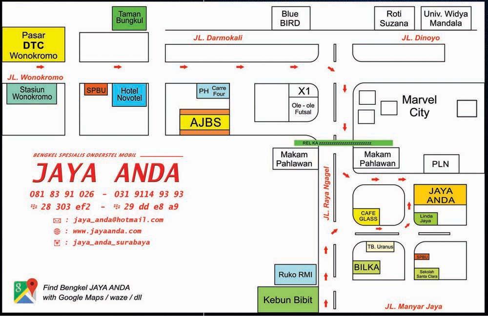 Peta Lokasi Bengkel Ondersteel Jaya Anda
